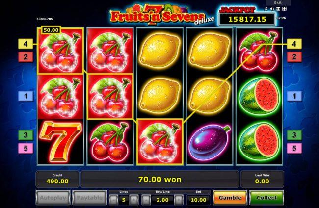 Multiple winning paylines