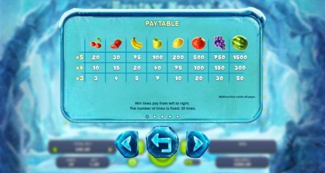 Africa Casino featuring the Video Slots Fruity Frost with a maximum payout of $7,500
