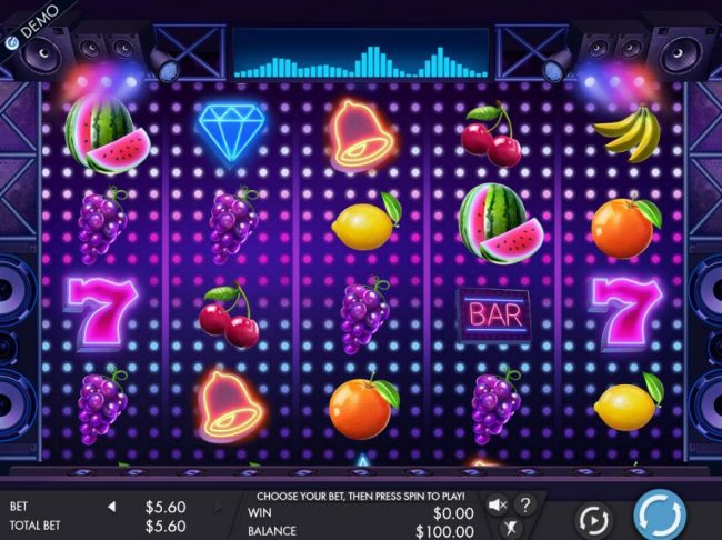 Slots Cafe featuring the Video Slots Fruity Grooves with a maximum payout of $4,480