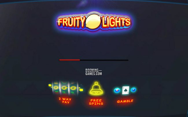 Wild Jackpots featuring the Video Slots Fruity Lights with a maximum payout of $1,350