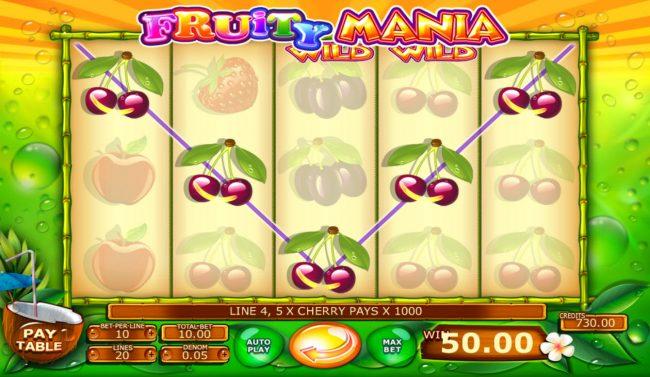 Fruity Mania :: A winning five of a kind