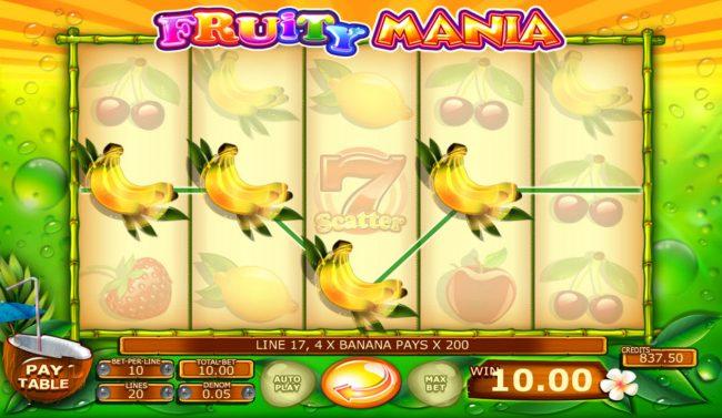 Fruity Mania :: Four of a kind