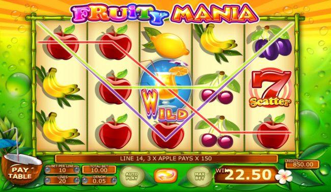 Fruity Mania :: Multiple winning paylines