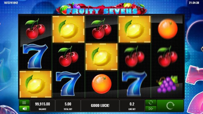 Dasistcasino featuring the Video Slots Fruity Sevens with a maximum payout of $2,500