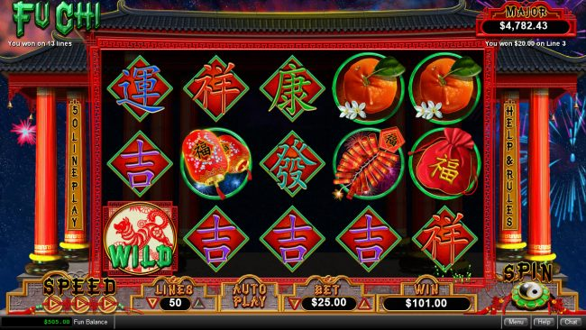 iNET Bet featuring the Video Slots Fu Chi with a maximum payout of $250,000