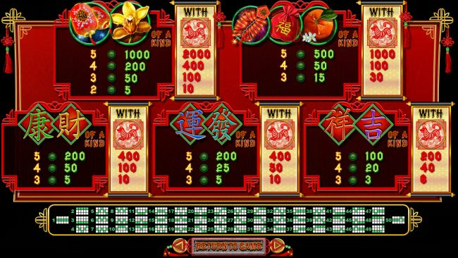 Miami Bingo featuring the Video Slots Fu Chi with a maximum payout of $250,000