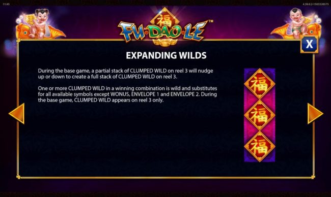 Fu Dao Le :: Expanding Wilds Rules