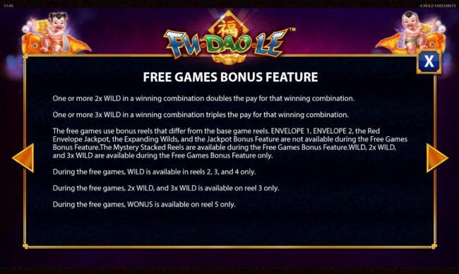 Free Games Bonus Rules - Continued