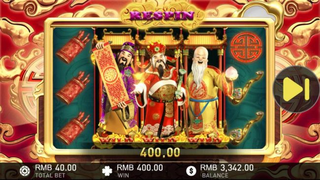 Fu Lu Shou :: An additional 400.00 is awarded for the respin
