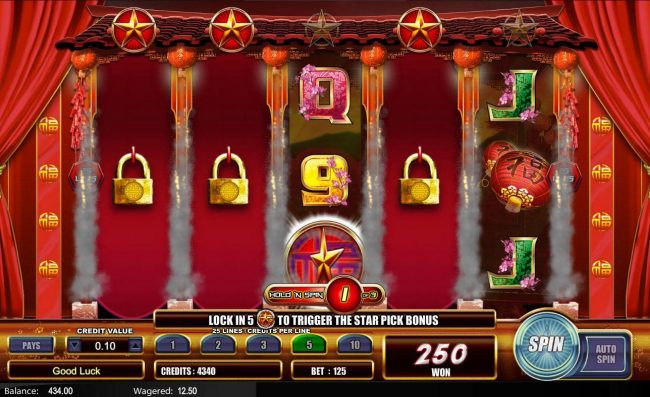 NetBet featuring the Video Slots Fu Star with a maximum payout of $5,000