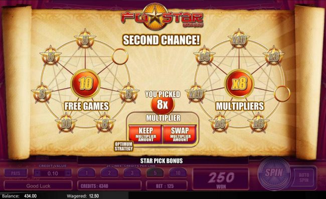 Fu Star :: You have a second chance to swap the multiplier if you want to.