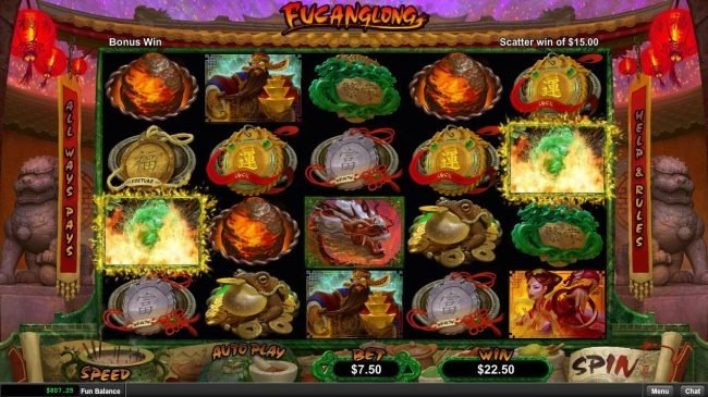 Club Player featuring the Video Slots Fucanglong with a maximum payout of $300,000