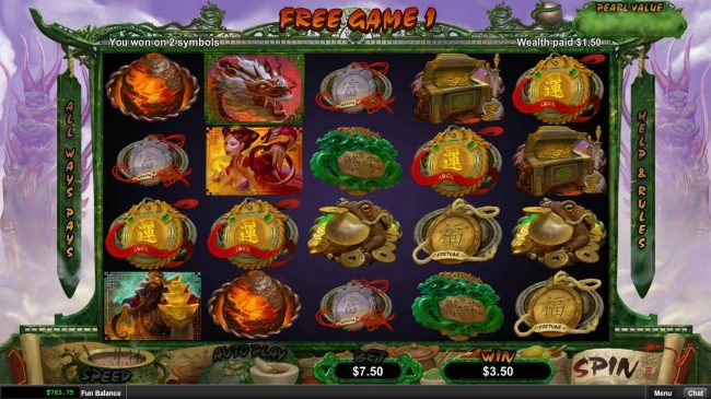 Casino Bellevue featuring the Video Slots Fucanglong with a maximum payout of $300,000