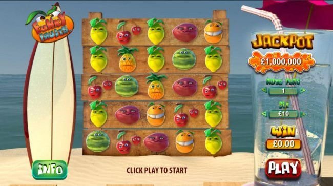 Omni featuring the Video Slots Funky Fruits with a maximum payout of $1,000,000