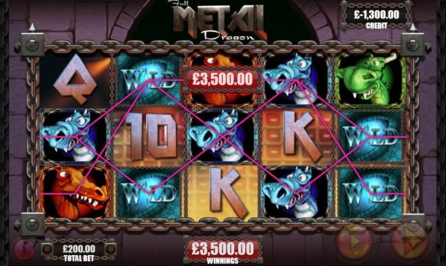 Dream Vegas featuring the Video Slots Full Metal Dragon with a maximum payout of $250,000