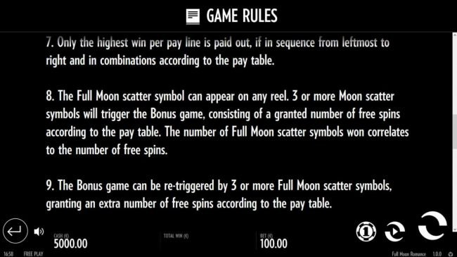 Scatter and Bonus Rules