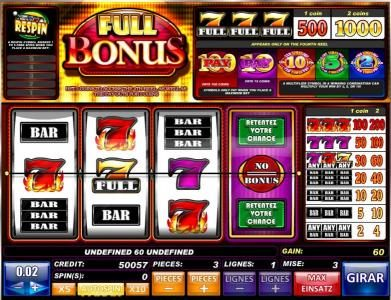 Tangiers featuring the Video Slots Full Bonus with a maximum payout of $6,000