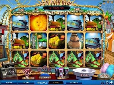 Play slots at Win 7: Win 7 featuring the Video Slots Fun Fair Ride with a maximum payout of $40,000