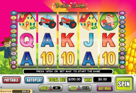 Play slots at Liberty Slots: Liberty Slots featuring the Video Slots Funky Chicken with a maximum payout of $50,000