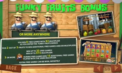 Funky Fruits Farm :: bonus feature rules