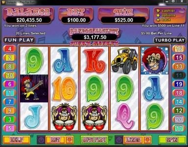 Play slots at Real Vegas Online: Real Vegas Online featuring the Video Slots Funky Monkey with a maximum payout of $250,000