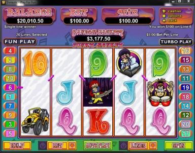 All Star Slots featuring the Video Slots Funky Monkey with a maximum payout of $250,000