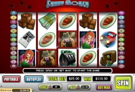 Lincoln featuring the Video Slots Funny Money with a maximum payout of $40,000