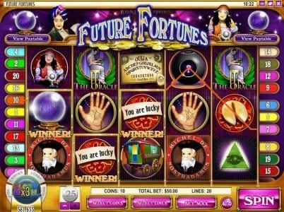 24 Vip featuring the Video Slots Future Fortunes with a maximum payout of $12,500