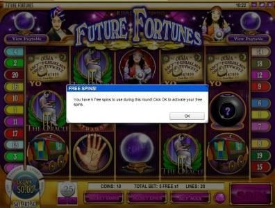 Play slots at Ignition: Ignition featuring the Video Slots Future Fortunes with a maximum payout of $12,500