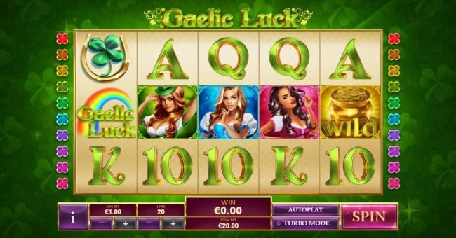 Come On featuring the Video Slots Gaelic Luck with a maximum payout of $200,000