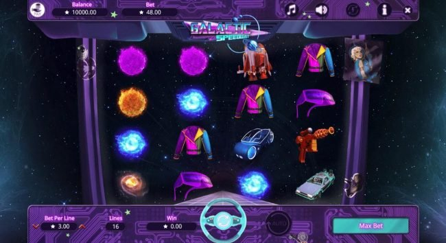 Play slots at Prime Slots: Prime Slots featuring the Video Slots Galactic Speedway with a maximum payout of $1,600