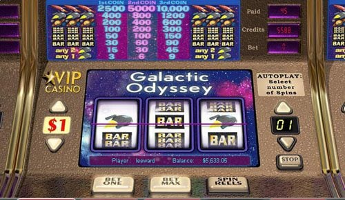 Royal Panda featuring the video-Slots Galactic Odyssey with a maximum payout of 10,000x