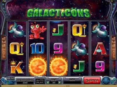 Play slots at Cinema: Cinema featuring the Video Slots Galacticons with a maximum payout of $15,000