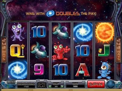 Platinum Play featuring the Video Slots Galacticons with a maximum payout of $15,000