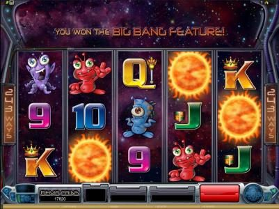 Queen Vegas featuring the Video Slots Galacticons with a maximum payout of $15,000