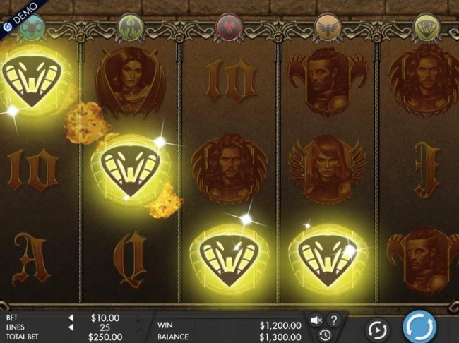 Chanz featuring the Video Slots Game of Swords with a maximum payout of $12,500