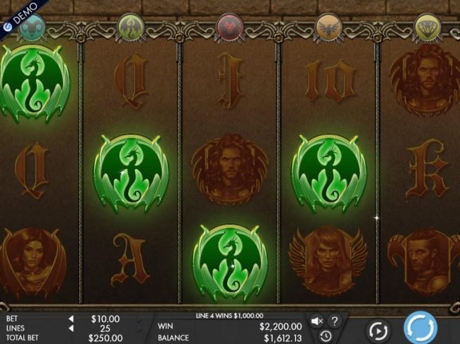 All Slots featuring the Video Slots Game of Swords with a maximum payout of $12,500