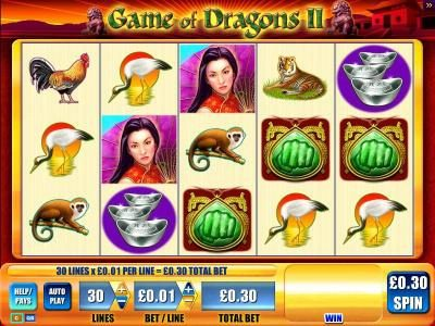 Play slots at Lucky Me Slots: Lucky Me Slots featuring the Video Slots Game of Dragons II with a maximum payout of $12,500
