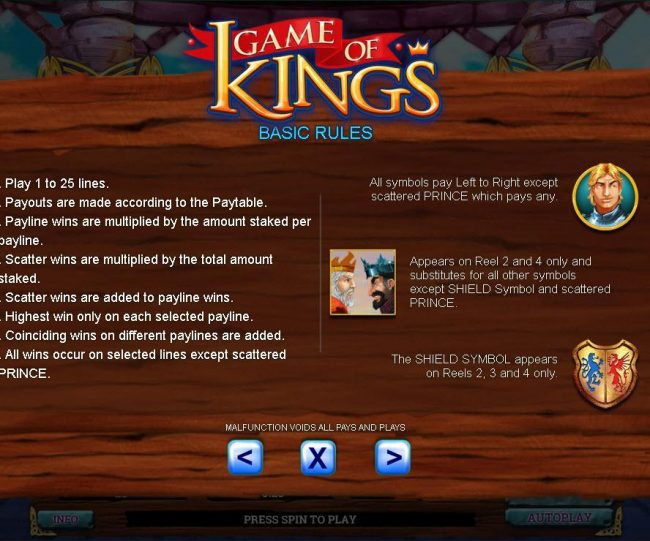 Gossip Slots featuring the Video Slots Game of Kings with a maximum payout of $80,000