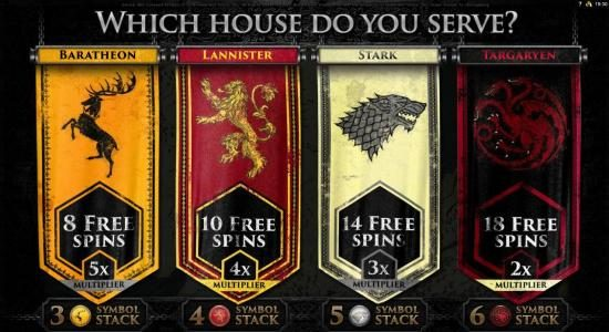 Fika Casino featuring the Video Slots Game of Thrones - 15 Lines with a maximum payout of $3,000
