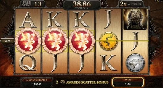 Vegas Paradice featuring the Video Slots Game of Thrones - 15 Lines with a maximum payout of $3,000