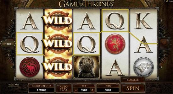 Play slots at Jackpot Mobile: Jackpot Mobile featuring the Video Slots Game of Thrones - 15 Lines with a maximum payout of $3,000