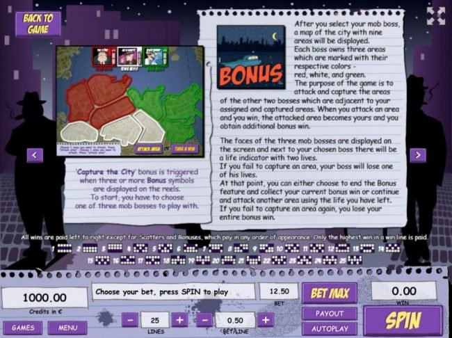 Royale24 featuring the Video Slots Gangland with a maximum payout of $125,000