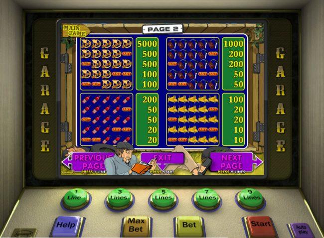 Play slots at Club Vulkan: Club Vulkan featuring the Video Slots Garage with a maximum payout of $6,200