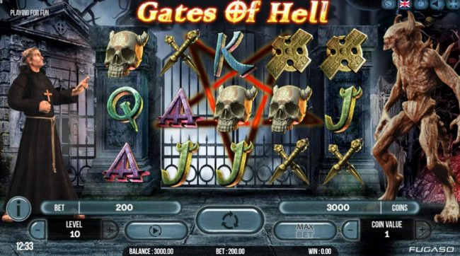 Magik Slots featuring the Video Slots Gates of Hell with a maximum payout of $20,000