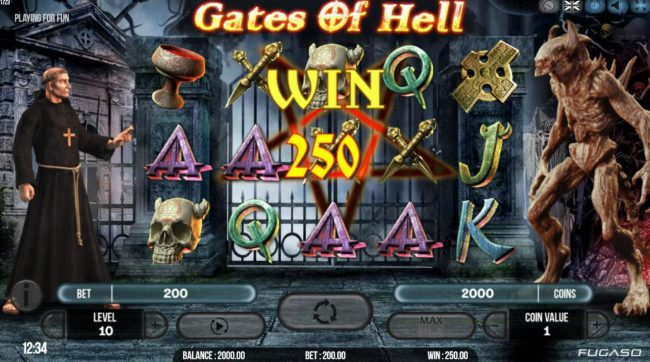 Play slots at Kingbit Casino: Kingbit Casino featuring the Video Slots Gates of Hell with a maximum payout of $20,000