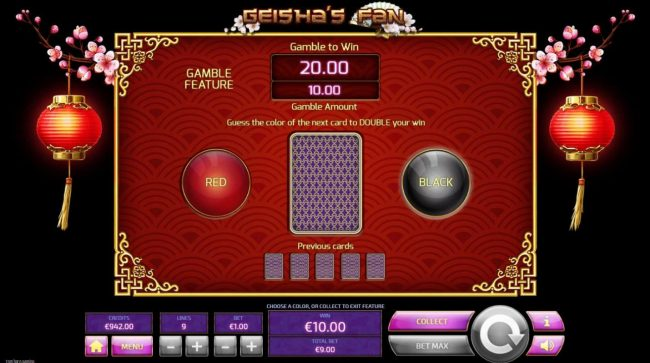 Royale24 featuring the Video Slots Geisha's Fan with a maximum payout of $45,000