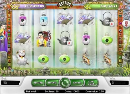 Tivoli featuring the Video Slots Geisha Wonders with a maximum payout of $20,000