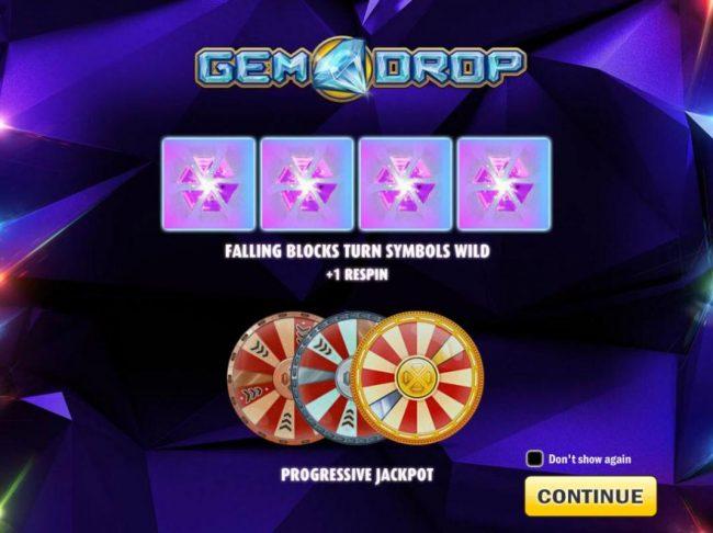 Play slots at Intercasino: Intercasino featuring the Video Slots Gem Drop with a maximum payout of $150,000