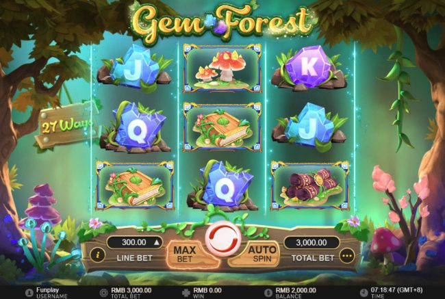 Play 24 Bet featuring the Video Slots Gem Forest with a maximum payout of $300,000